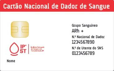Cartão Ncaional de Dador